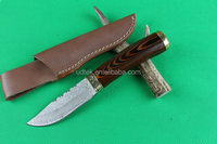 OEM damascus steel custom handmade hunting knife