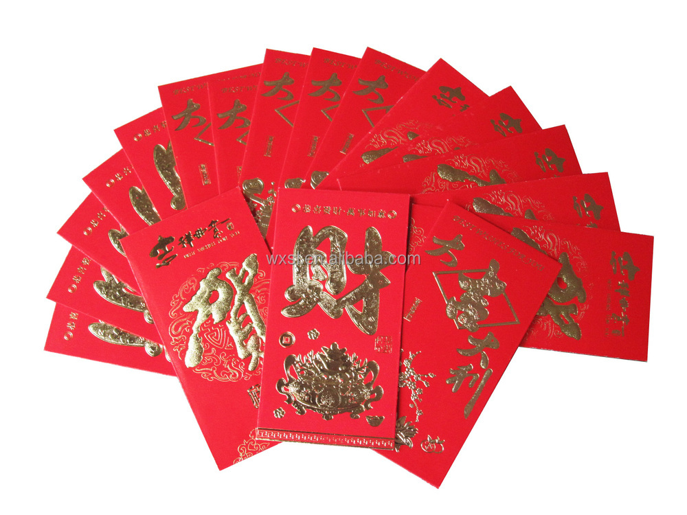 printed coated paper red envelope any size