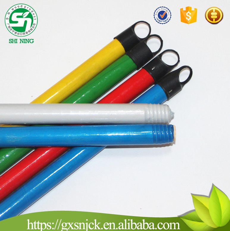 Hot Sale Household Eco-friend pvc wooden broom handle for wholesales