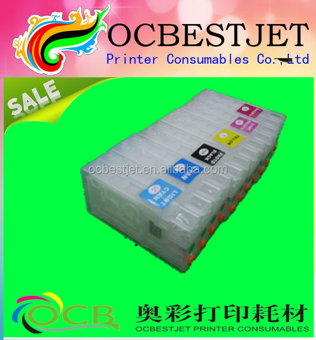 ink cartridge for epson PP100 6 color inkjet printer refillable ink cartridge