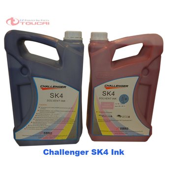 5Liter per Bottle Low smell compatible for spt 510 1020 print head challenger FY printer solvent sk4 challenger ink wholesale