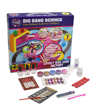Super Amazing Science for children packed in color boxeducational toys of Lovely Nail Care Factory