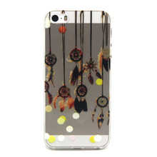 Factory Price Fancy Cartoon Pattern UV Printing TPU Cell Phone Case For iPhone5