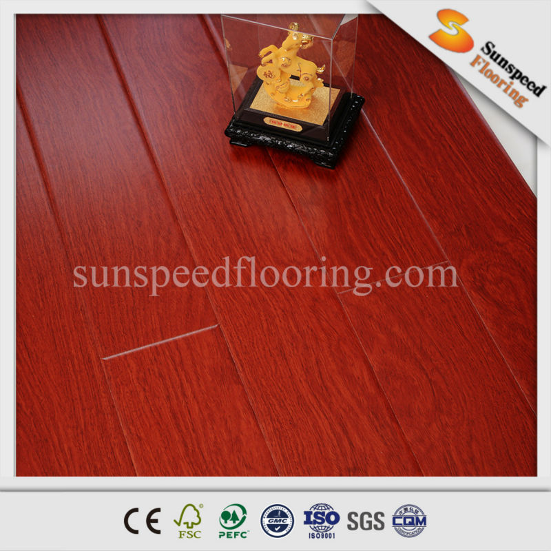 wood grain AC4 pisos laminados de madera laminated floor negro nogal