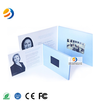 Fashion Business Invitation Video Brochure Card Lcd Video Gift Cards Digital TFT screen Video Greeting Card