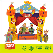 Toys For Children Playing Materials Wood Theatre Castle