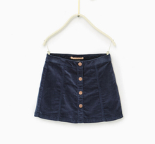 Kids baby beautiful girl plain tabby mini denim skirt