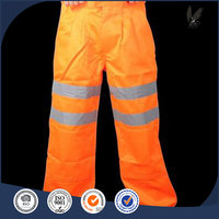flame retardant safety work pant fluorescent orange High visibility safety workwear work pant cargo trousers