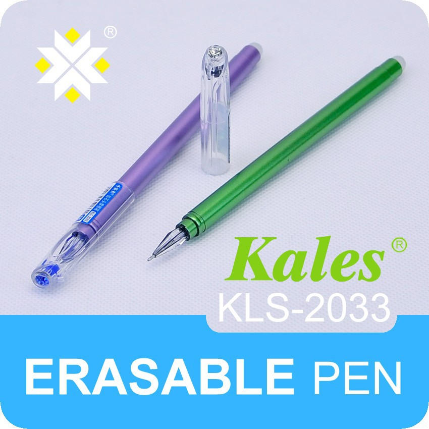 Wenzhou cheap pen manufacturer erasable gel ink pen with diamond