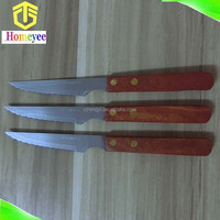 Hot sales stainless steel wood handle steak knife