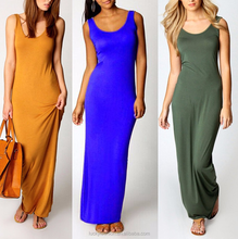 Wholesale Cheap Sexy Women Summer Sleeveless Scoop Neck Slim Long Sexy Nighty Maxi Dresses for Ladies