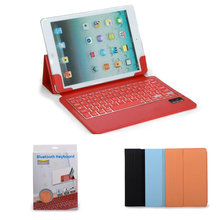 Ultra-thin silicone bluetooth keyboard leather case for ipad air