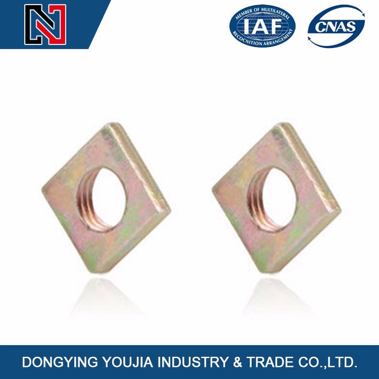 China popular Stainless steel zinc plated square nut m4 m8