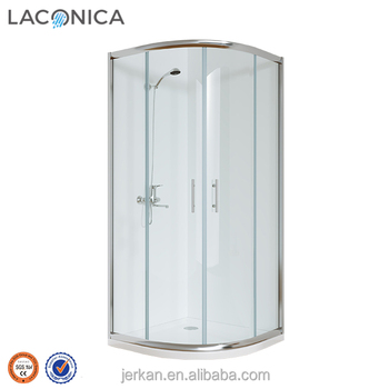 China manufacturer free standing curved glass shower screen