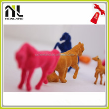 Zoo animals plastic toy, natural world toy animals, flocked animals toy