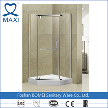 MAXI bathroom free standing folding 8mm glass shower enclosure shower room