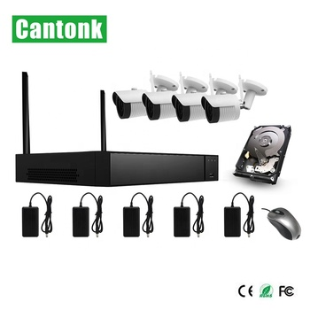 High Quality H.265 4 Channel Wireless Camera 8CH NVR Wifi Kit IP camera wifi nvr kits cctv kit outdoor home security cctv camera