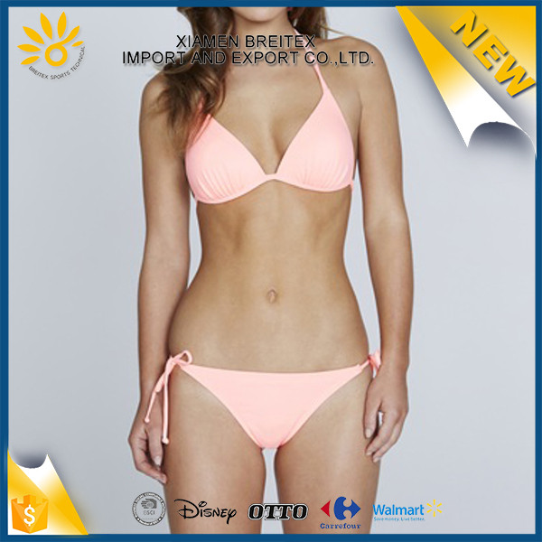 Wholesale new style swimsuit pink color girl swimwear crochet micro bikini