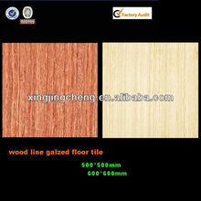 wood look ceramic floor tile for house construction material