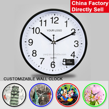 Wholesale cheap price customized promotion plastic modern fashion art wall clock