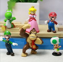 (New) 6PCS Super Mario Bros Figure Toy Doll Pvc Figure Collectors, Custom OEM Figure, Custom PVC Toy Figure