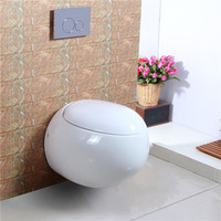 Hot sale wc sanitary wares egg shape wall mounted toilet
