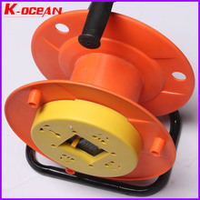 Plastic Material 220V Cable Reel, extension cord reel, With leakage protector