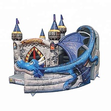 Cheap Combo inflatable dragon castle bouncer