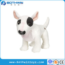 Custom 20cm H lovely Plush Bull Terrier Stuffed Toy