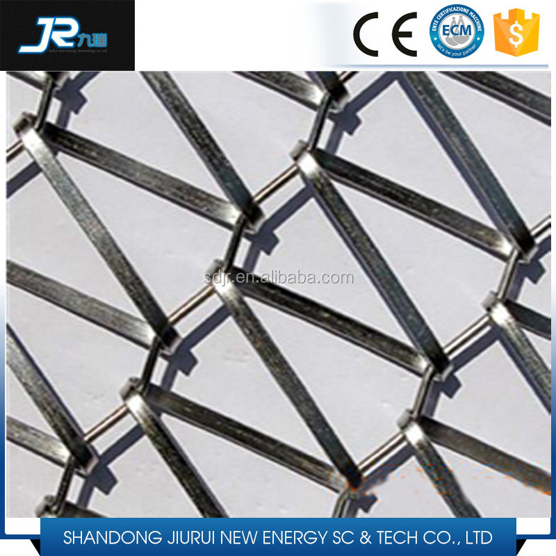 2015 China hot sale stainless steel balanced weave wire rope mesh conveyor belt