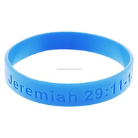 Cheapest promo gifts light blue color hot sale silicone wristband,silicone band