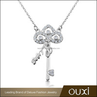 OUXI new products fashion key necklace fashion jewerly 2014