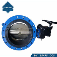 Lever Operated Wafer Type Manual Butterfly Valve for Cement