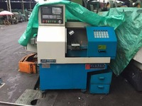 used cnc lathe machine 2 axis 95% full new turning machine