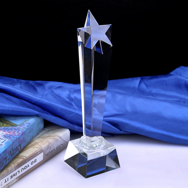 Souvenir Customized Blank Sports Award Crystal Trophy for Corporate Gift