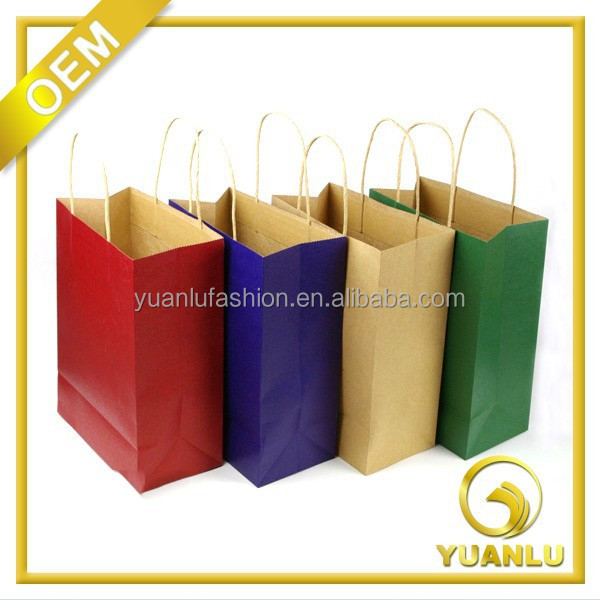Gift, Garment, Shoes used printed craft paper bag with handle