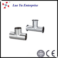 2013 new product sanitary stainless steel eq tee manufacture