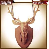 corrugated cardboard artificial paper deer head for decoration christmas gift