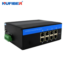 10/100/10000M 8 port Managed Industrial Switch POE Industrial SNMP Ethernet Switch