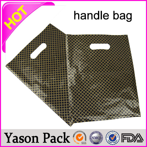 promotional rope plastic twisted custom printed patch handle polythene plain bag