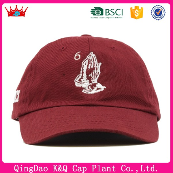 Factory OEM high quality custom 16*12 cotton wholesale baseball dad hat