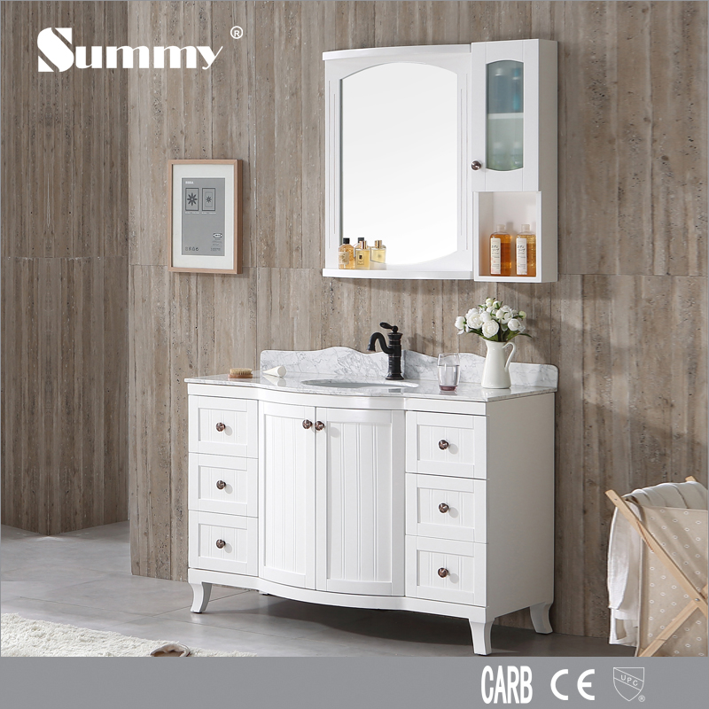 custom liquidation waterproof white high gloss bathroom vanity