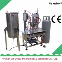 factory sale Semi-Automatic automatic aerosol filling machine for axe deodorant body spray