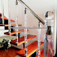 High Glass Crystal Stair Railing For Home Building Material & Decoration