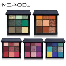 2019 New Wholesale 9 Colors Professional Shimmer Matte Eyeshadow Palettes Private Label