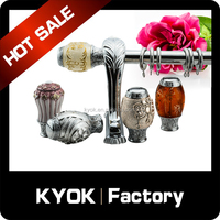 High quality curtain rod finials , factory direct sell curtain accessories , window decors end caps