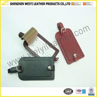 Fashional PU Leather Luggage Tag Custom Emboss Logo Any Size Welcome Luggage Tag Wholesale With Cheap Price