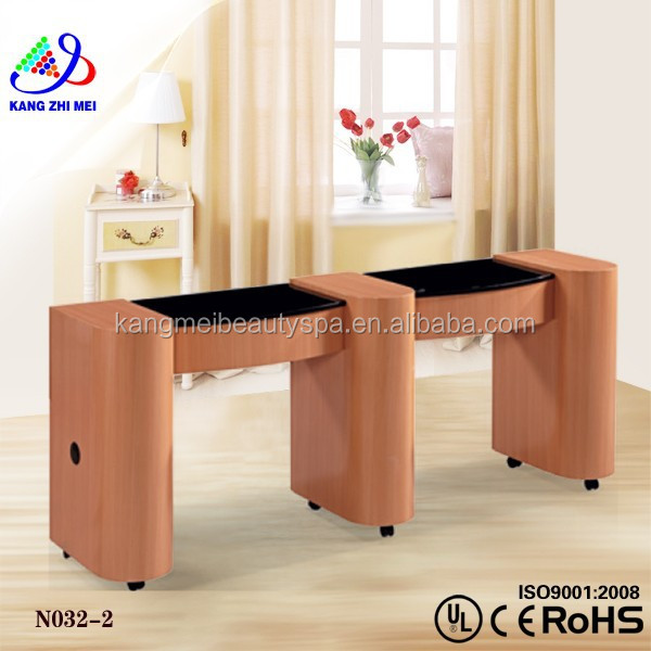 2015 nail polish suppliers for beauty/double nail table/marble top nail table KM-N032-2