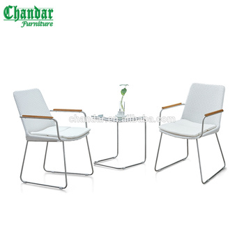 304 stainless steel chair set in PE rattan,outdoor patio furniture,balcony garden sets