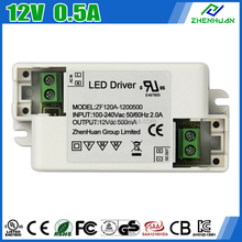 High Efficiency AC DC Power Supply 12V 500mA LED Driver